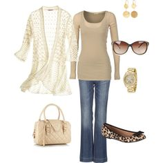 """""""Cream and Tan"""" by cs1398 on Polyvore"""