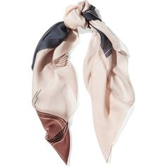 Halston Heritage Grid printed silk scarf ($165) ❤ liked on Polyvore featuring accessories and scarves