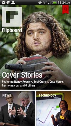 #Flipboard for Android: The best news app to display not only news, but posts from various social sites, including Google Plus.