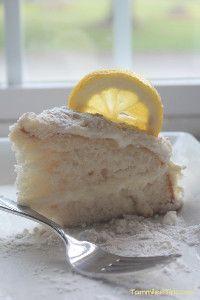 Homemade Olive Garden Lemon Cream Cake | TheBestDessertRecipes.com