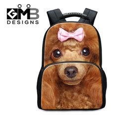 60.53$  Watch here - http://vizpz.justgood.pw/vig/item.php?t=6w67syo7885 - Dog Backpacks for Girls Lightweight Back Pack Wolf Printed School Bookbags Anima 60.53$