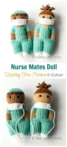 Nurse mates free knitting pattern knitting projects free knitting pattern for nellaphant elephant toy elephant toy softie knit flat on two needles dk weight yarn designed by l t marshall and rachel clarke toyknittingpattern Knitted Doll Patterns, Knitted Dolls, Knitting Patterns Free, Free Knitting, Crochet Patterns, Knitted Nurse Doll Pattern, Loom Patterns, Knitting Toys Easy, Easy Patterns