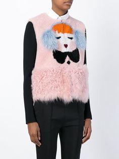 portrait motif vest