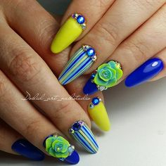 Amazing Tips For The Best Summer Nails – NaiLovely Chorme Nails, Edge Nails, Diva Nails, Glam Nails, Hot Nails, Beauty Nails, Acrylic Nails, Nails 2016, Nail Nail