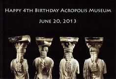 On June 20, 2013 the Acropolis Museum will celebrate its 4th B-day.  The exhibition areas & restaurant will remain open from 8am – 12 a.m. Visitors with museum hosts will experience the untold stories of the surviving blocks of the frieze with 3D presentations.  The Athens Municipality Philharmonic Orchestra will present famous melodies and the Museum will commence the exclusive production of copies of two exhibits, the head of Poseidon and Artemis from the east frieze of the Parthenon.