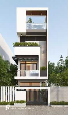 Small house facade design pin by on architecture modern house design modern modern architecture architecture residential Modern Small House Design, Modern Apartment Design, Small Modern Home, House Front Design, Modern House Plans, Modern Homes, Duplex Design, Architecture Design, Modern Architecture House