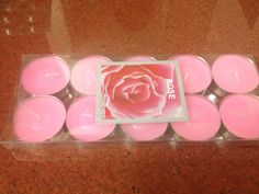 Rose scented Tea light candle for ₹120/-
