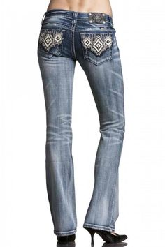 Miss Me Aztec Deco Women's Boot Cut Jeans size 28 (can find this brand at dillards, buckle,and cavenders in stillwater