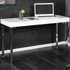 Design Laptoptisch WHITE DESK 120cm hochglanz weiss Schreibtisch Bürotisch in Möbel & Wohnen, Möbel, Schreibtische & Computermöbel | eBay