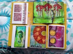 Mixed media cards Mixed Media Cards, Time Art, Peace, Painting, Painting Art, Paintings, Painted Canvas, Sobriety, Drawings