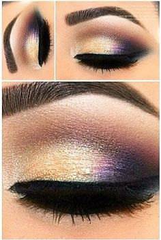 Iridescent smokey eye