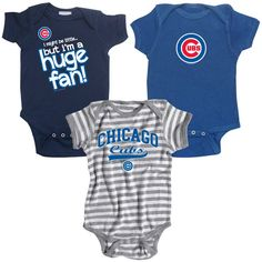 Chicago Cubs Infant Baby Rib Creeper 3 Pack | eBay