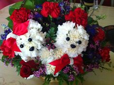 Puppy flowers for Valentine's day :)