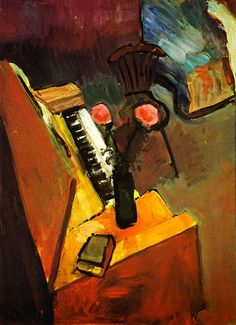 Interior with Harmonium / Henri Matisse - 1900