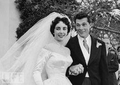 Elizabeth Taylor and Nicky Hilton, 1950 matched short
