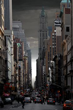 NYC. Fifty shades of grey sky