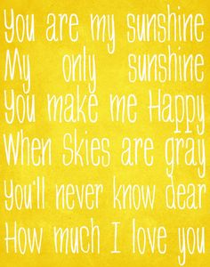 I love this song, especially when my daughter sings it to me! <3