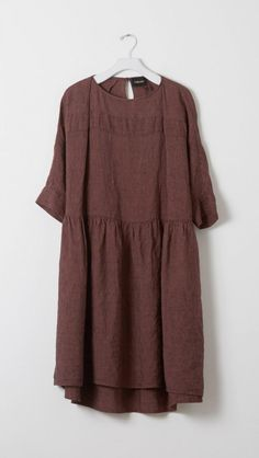 Rachel Comey Linen Reunion Dress in Mauve  | The Dreslyn