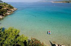 Kalogria Beach, Stoupa, Greece - my summer holiday destination Wonderful Places, Beautiful Places, Santorini Villas, Myconos, Ocean Pictures, Greece Travel, Best Vacations, Beautiful Islands, Greek Islands