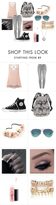 """""""Extremely Random"""" by kayley2103 ❤ liked on Polyvore featuring Glamorous, Paige Denim, Converse, Victoria's Secret, Tiffany & Co., MAC Cosmetics, River Island and Pandora"""