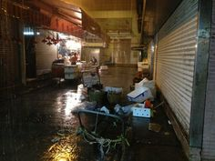 A typical downpour during typhoon season in HK