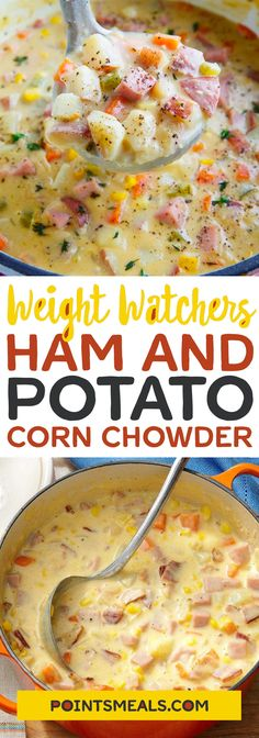 Ham and Potato Corn Chowder #weight_watchers #soup