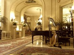 The Harpist played a Beautiful birthday song as the cake arrived at The Ritz