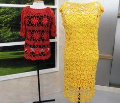 Arte Brasil   Vestido Verão em Crochê - Suzete Lemos