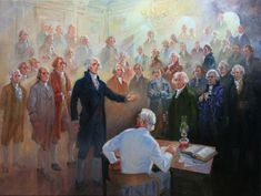 """Title: Wilford Woodruff and the Temple Work of the Founding Fathers. """"In August 1877 Wilford Woodruff had two """"night visions"""" in which the Founding Fathers appeared in the St. George Temple inquiring about their temple work. St George Temple, Lds Scriptures, Bible, Church History, Family History, Lds Art, Doctrine And Covenants, Singing Time, Lds Church"""