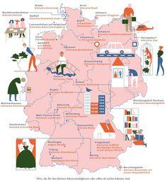 Deutschlandkarte: Die kleinsten Dinge | ZEITmagazin