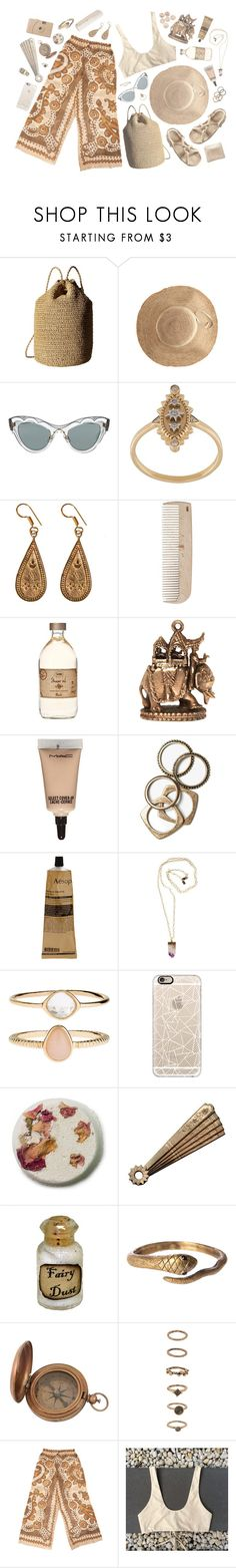 """""""BEACH WEAR - MOROCCAN SUN"""" by pretty-basic ❤ liked on Polyvore featuring Hat Attack, Totême, Miu Miu, Elise Dray, Urbiana, HAY, Annina Vogel, MAC Cosmetics, Rachel Leigh and Aesop"""