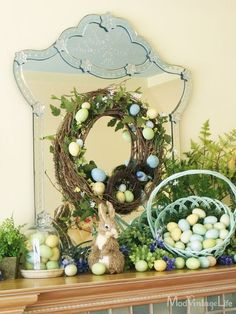 Top 19 Easter & Spring Interior Mantel Decor – Easy Design For Cheap Party Project - Way To Be Happy (15)