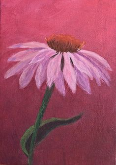 Echinacea Acrylic Painting Demonstration | J E A N N E . C O W A N