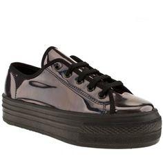 Women s Black schuh Creep Platform Lo Metallic at schuh Trainer Boots b3790ee01
