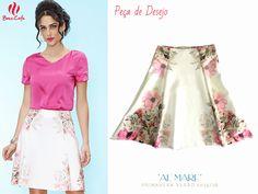 Esta é uma das peças desejo da coleção, linda saia evasê com estampa floral!  #modaevangelica
