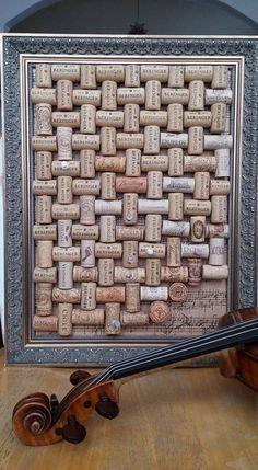 Gorgeous Cork Board to Cover an Eye Sore #winecorks