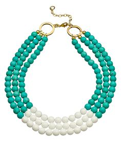 K. Amato Two Tone Beaded Necklace