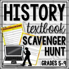 This DIGITAL resource is intended to be used at the beginning of the year to introduce your students to their History textbook. This resource includes questions pertaining to the following: Table of Contents, chapters, glossary, index, political maps, physical maps, thematic maps, charts, artifacts,... Textbook Scavenger Hunt, Digital History, History Class, Ancient History, Contents, Social Studies, How To Introduce Yourself, Charts, Physics