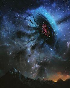 Monster Concept Art, Fantasy Monster, Monster Art, Dark Creatures, Fantasy Creatures, Arte Horror, Horror Art, Cthulhu Art, Lovecraftian Horror