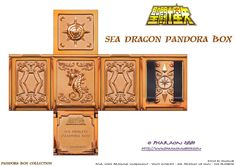 Sea Dragon Kanon Cloth Box papercraft. Kanon de Dragão Marinho Caixa de Pandora/Urna Sagrada de papel. 海龍のカノン [Shidoragon no Kanon]. Saint Seiya. Cavaleiros do Zodíaco. 聖闘士星矢セイントセイヤ [Seitōshi Seiya (Seinto Seiya)]. Papercraft. Cubeecraft. Boneco de papel.