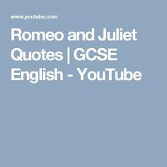 Romeo and Juliet Quotes Romeo And Juliet Quotes, Gcse Revision, Gcse English, Study Inspiration, Education English, Me Quotes, Teaching, Youtube, Kids