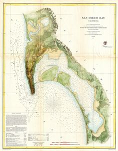 Map of San Diego Bay
