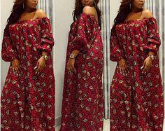 Ankara maxi, robe africaine maxi, lapidé Ankara robe