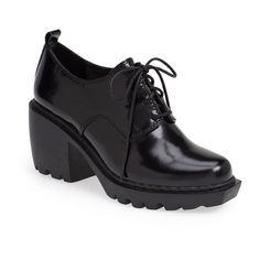 Women's Opening Ceremony 'Grunge' Oxford Bootie (18.770 RUB) ❤ liked on Polyvore featuring shoes, utility shoes, genuine leather shoes, opening ceremony oxfords, chunky shoes and real leather shoes