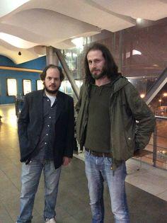 """El actor Felipe Dieste (izquierda) posa junto al director de """"El lugar del hijo"""", Manuel Nieto. #festivalcinedelima"""