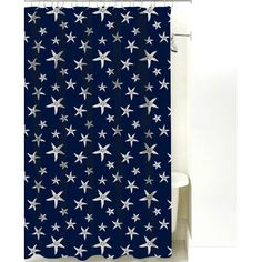 NECR Print Starfish Cotton Shower Curtain Color:
