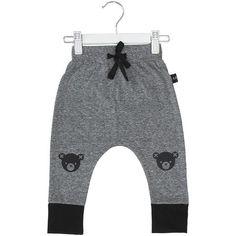 Bear Legs Drop Crotch Pants Charcoal