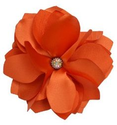 Beautiful Orange Floral Hair Clip and Brooch by Domestically URBAN. $9.00. Handmade in U.S.A. by Domestically URBAN. Multi Use: Hair Clip and Brooch backing.. Approx. 4 inches. Summer Wedding. Rhinestone Embellishment. Beautiful for your special Wedding day or a day at the beach! Our Flowers can be worn for any occasion. Wear it in your hair or pin it to your blouse. We hand make every flower with precision and care, so the flower is perfect for you! Enjoy!   -Domestically URBAN-