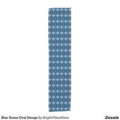 Blue Green Oval Design Short Table Runner