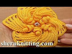 Crochet 6-Petal Flower Spirals In Center Tutorial 59 Part 2 of 2 Reverse...